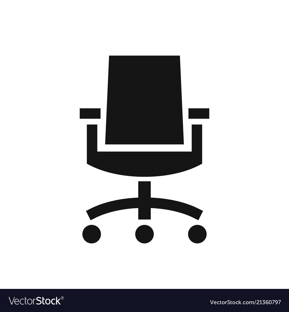 simple desk chair outdoor patio wrought iron pad business office black icon royalty free vector image