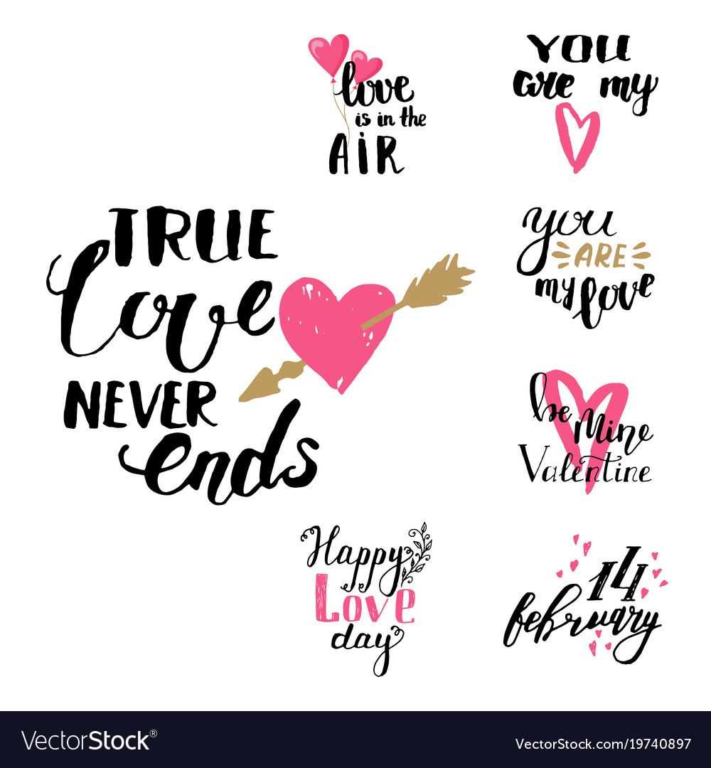 Download I love you text overlays hand drawn Royalty Free Vector
