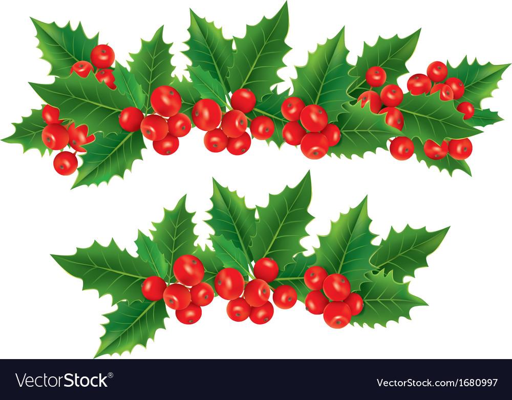christmas garland of holly