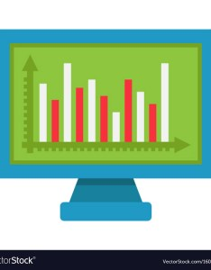 also monitor chart flat icon business and graph vector image rh vectorstock