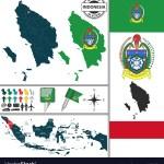 Map Of North Sumatra Royalty Free Vector Image