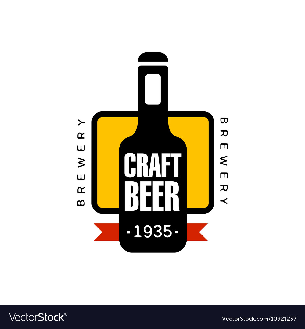 Craft Beer Logo Design Template Royalty Free Vector Image