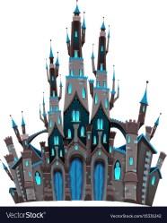 Medieval fantasy castle Royalty Free Vector Image