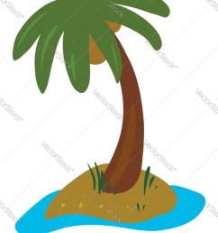 clipart palm tree grown in land vector image [ 778 x 1080 Pixel ]