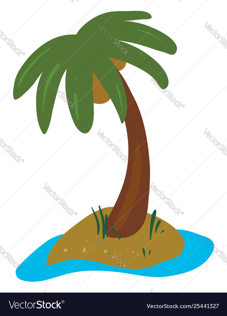 hight resolution of clipart palm tree grown in land vector image