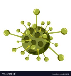 virus cell icon isometric 3d style vector image [ 1000 x 1080 Pixel ]