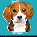Beagle Dog Painting Vector Images 60