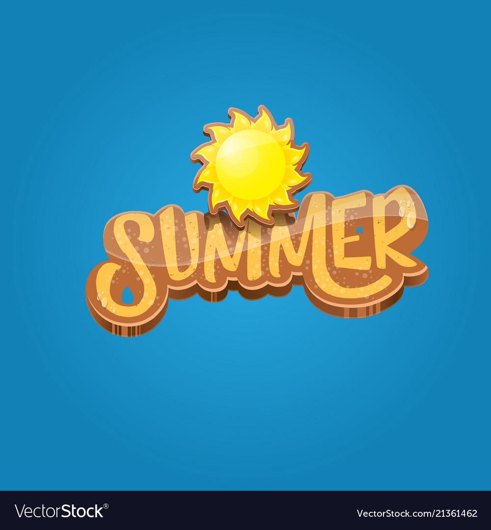 cartoon summer label paper