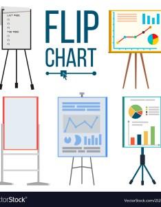 Flip chart set office whiteboard vector image also royalty free rh vectorstock