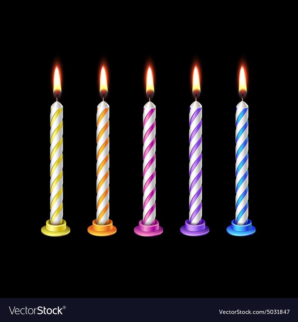birthday candles flame fire