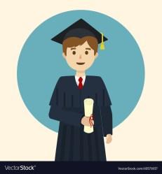graduate student cartoon vector university vectorstock grantham lincoln royalty vectors