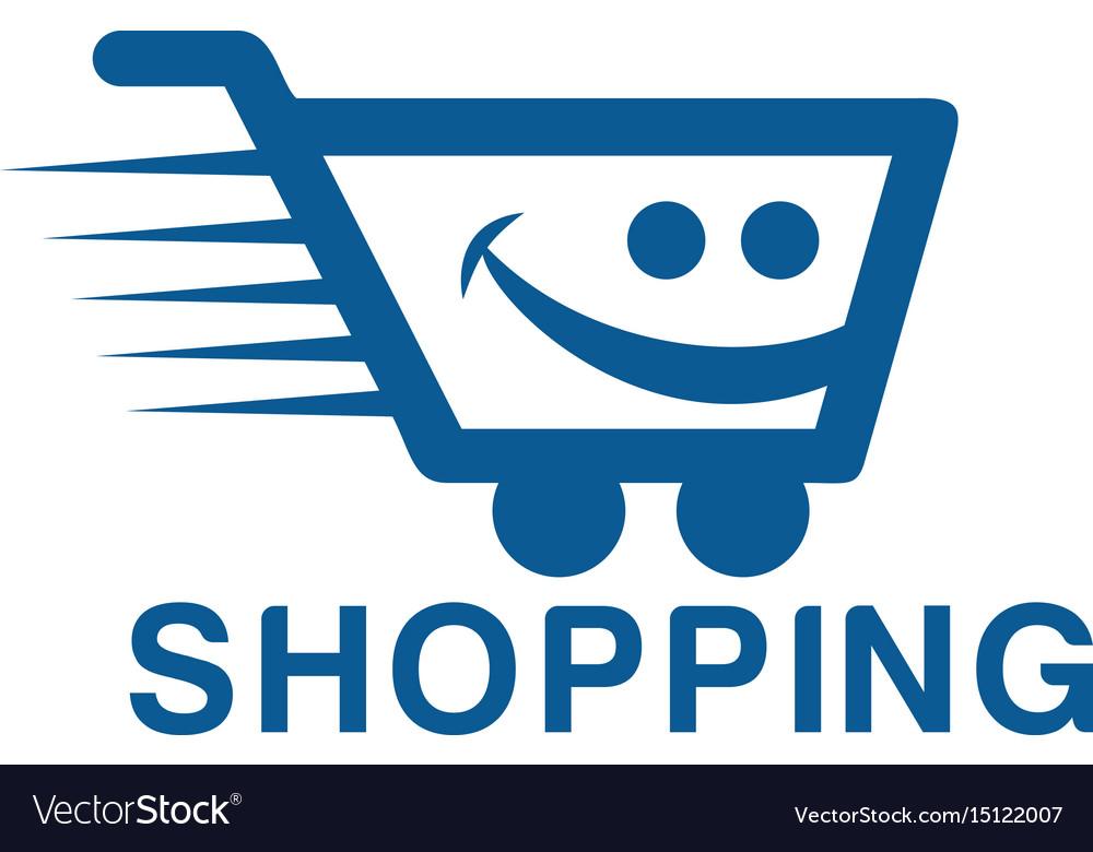 smiling shopping cart logo