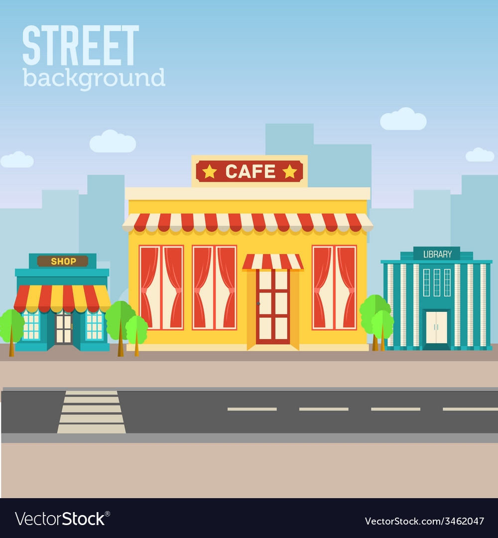 cafe building in city