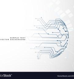 digital circuit wire mesh background vector image [ 1000 x 880 Pixel ]