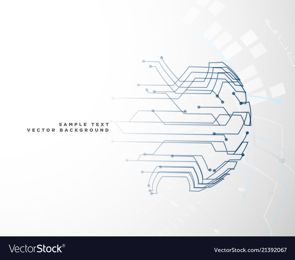 hight resolution of digital circuit wire mesh background vector image
