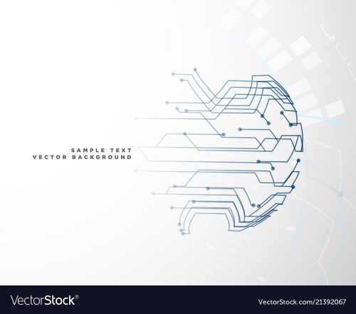 small resolution of digital circuit wire mesh background vector image
