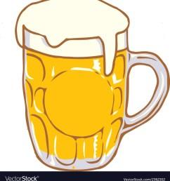 beer mug pint clipart design d vector image [ 966 x 1080 Pixel ]