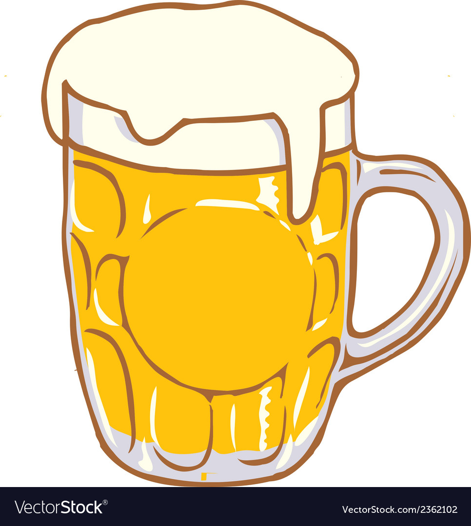 medium resolution of beer mug pint clipart design d vector image