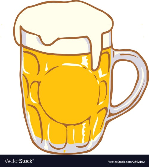 small resolution of beer mug pint clipart design d vector image