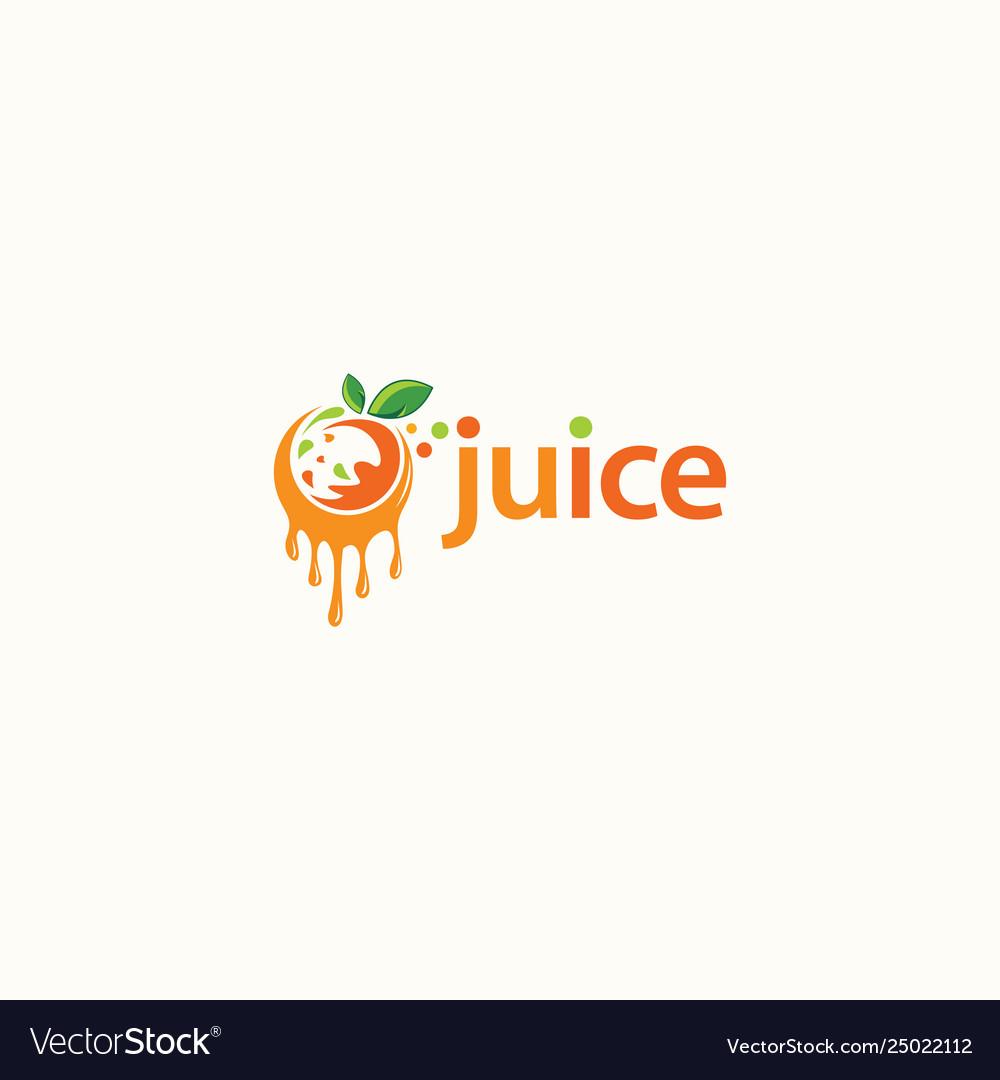 fruit juice logo design