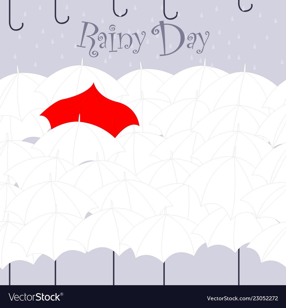 rainy day umbrella pattern