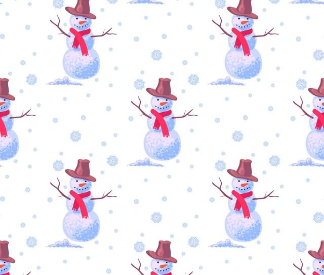 Snowman Wallpaper Vector Image