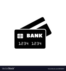 Bank Credit Card Flat Icon Royalty Free Vector