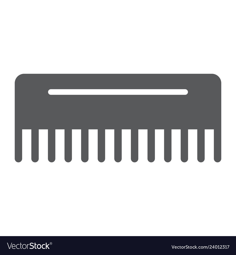 comb glyph icon hairdressing