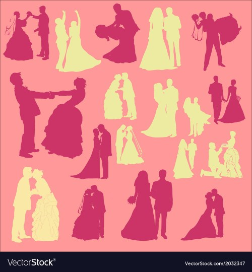 small resolution of bride and groom digital clipart vector image