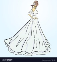 Wedding dress Royalty Free Vector Image - VectorStock