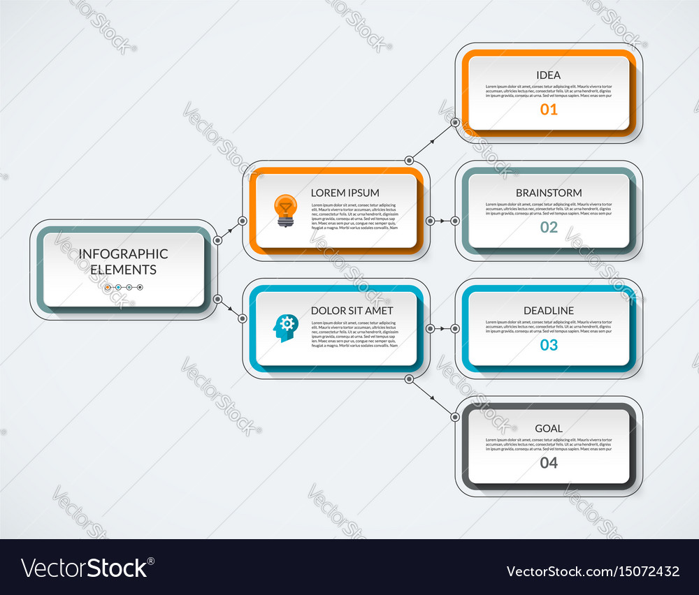 Infographic flow chart template Royalty Free Vector Image