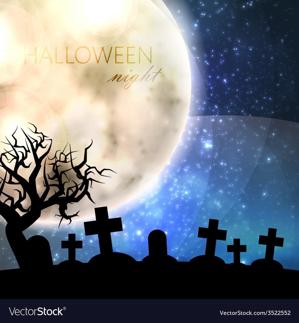 halloween with full moon