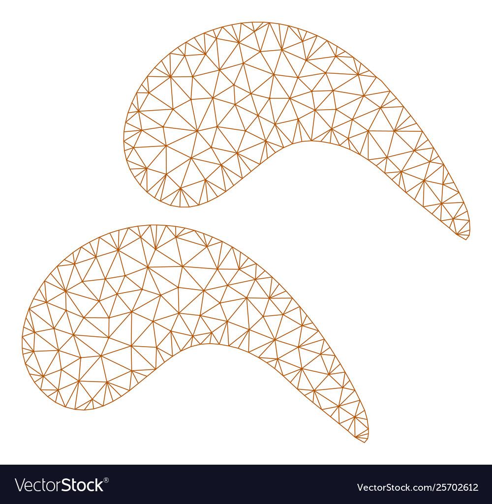 medium resolution of chicken wings polygonal frame mesh vector image