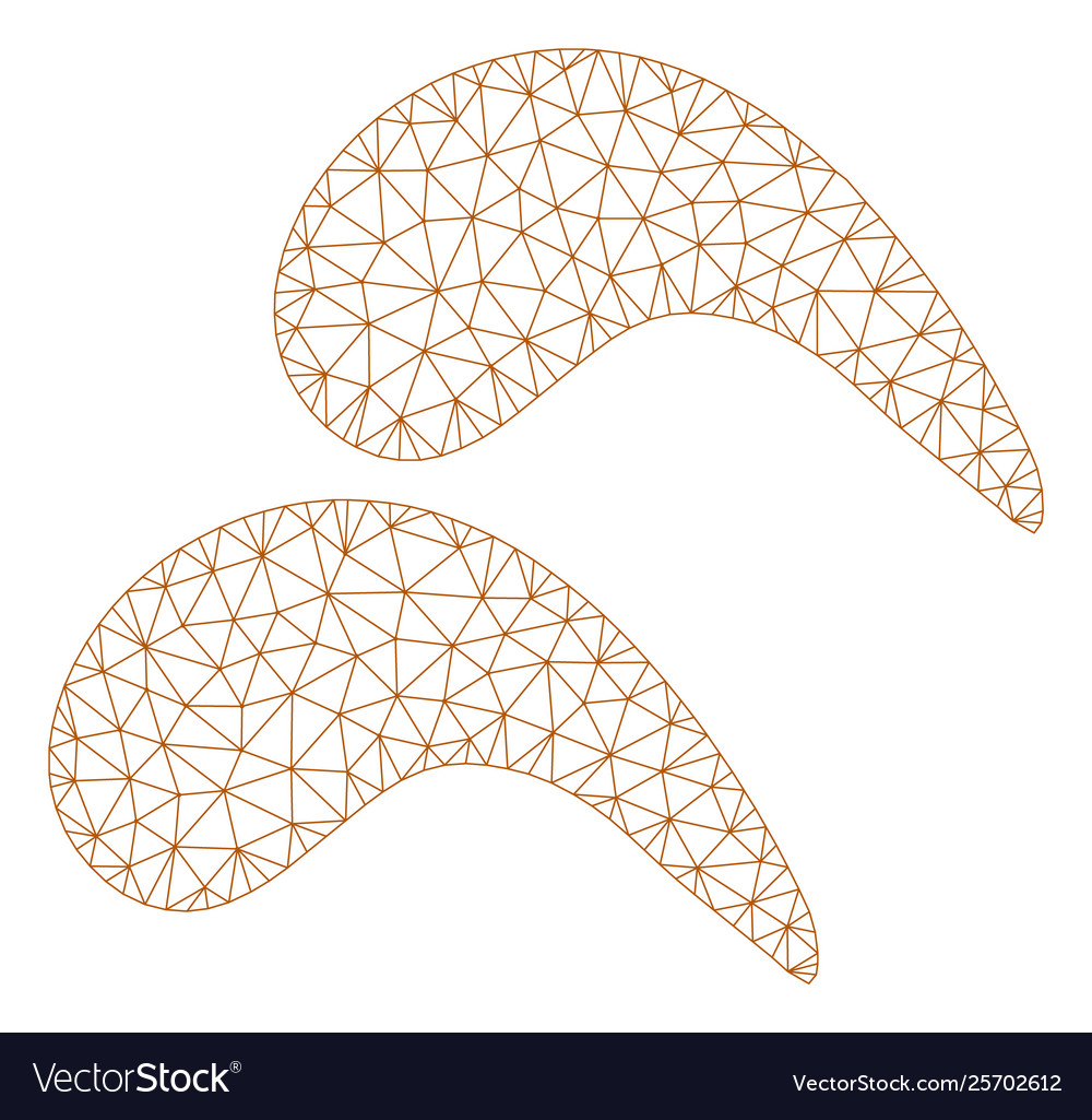 hight resolution of chicken wings polygonal frame mesh vector image