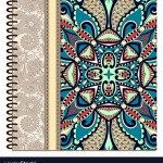 Design Spiral Ornamental Notebook Cover Royalty Free Vector