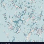 Blue Marble Texture With Rose Gold Patina Effect Vector Image
