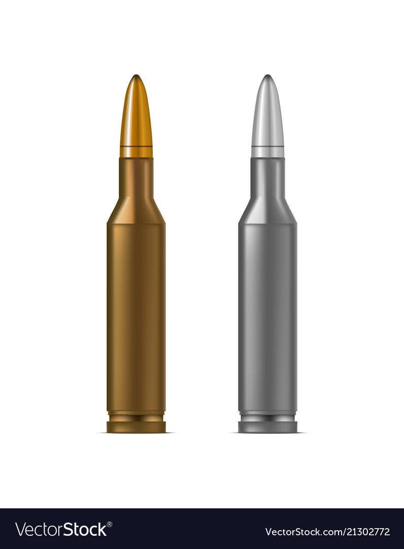 realistic detailed 3d bullets