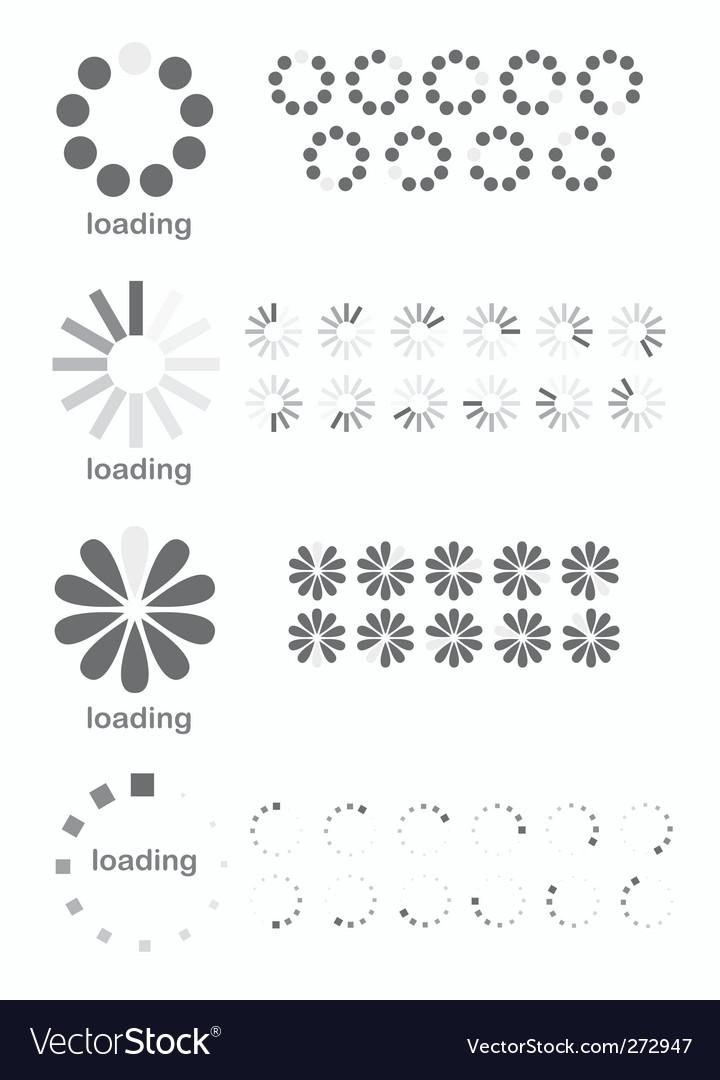 Loading Symbol Text : loading, symbol, Loading, Symbols, Royalty, Vector, Image, VectorStock