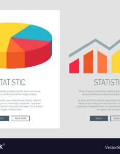 also statistic design with pie chart and bar graph vector image rh vectorstock