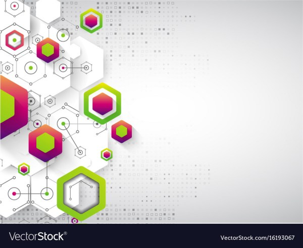 Abstract Background Science Template Wallpaper Vector
