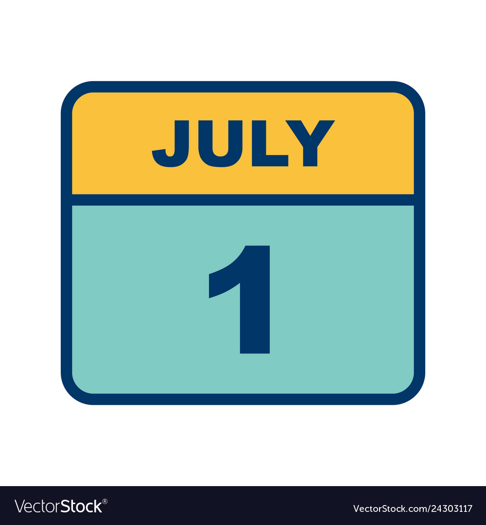 july 1st date on