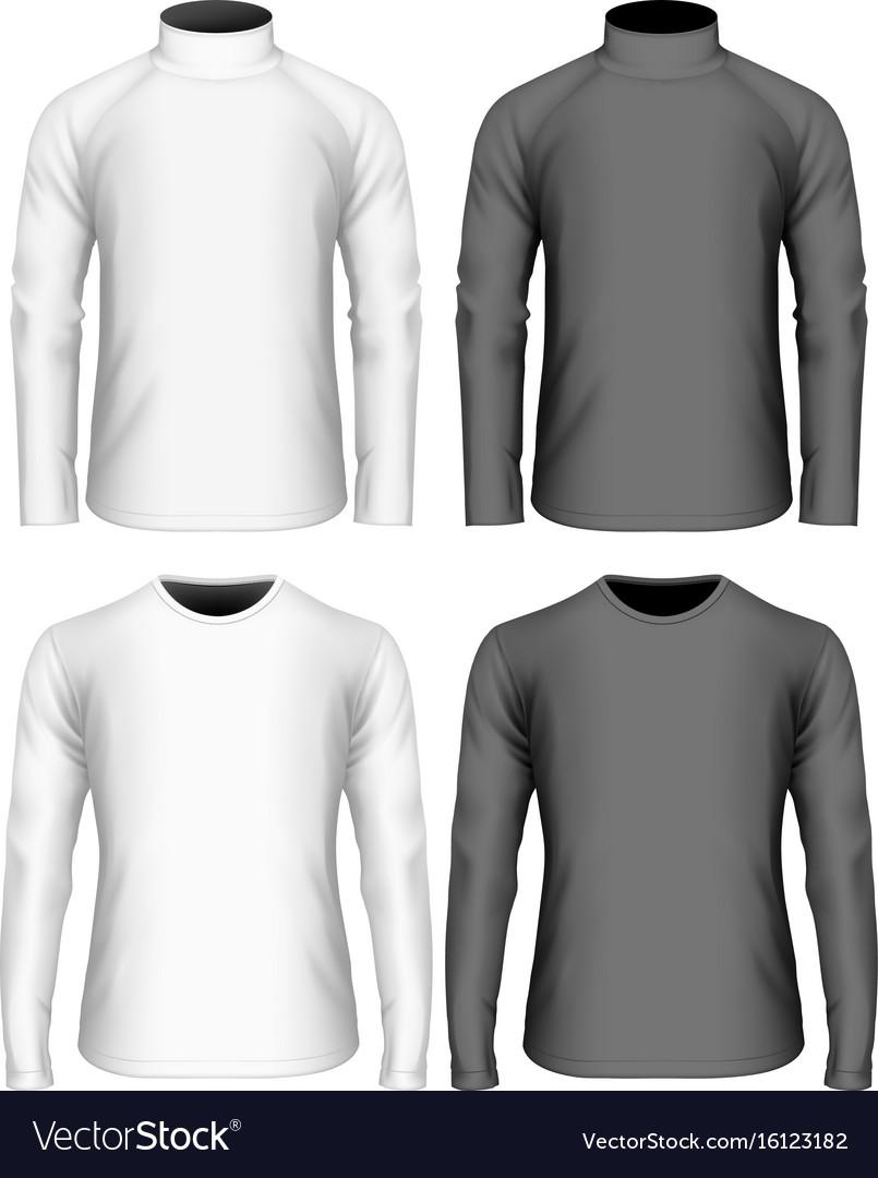 Long Sleeve Shirt Vector : sleeve, shirt, vector, Sleeve, T-shirt, Royalty, Vector, Image