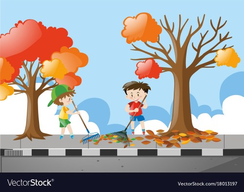 small resolution of raking leaf clipart