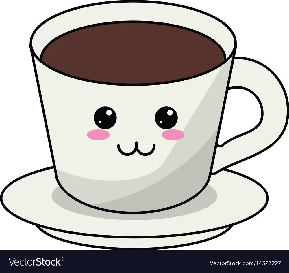 kawaii coffee cup plate