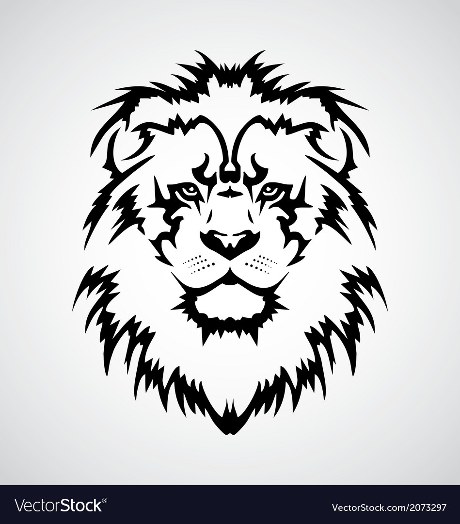lion face tribal