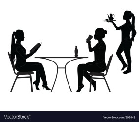 Restaurant silhouettes Royalty Free Vector Image