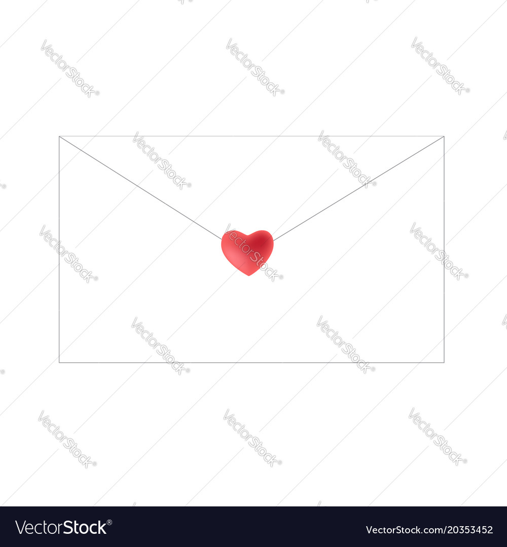 envelope closed by heart
