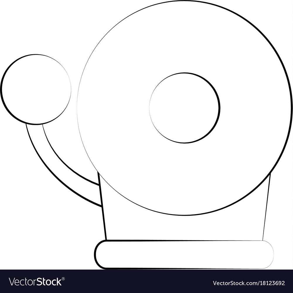 medium resolution of fire alarm bell vector image