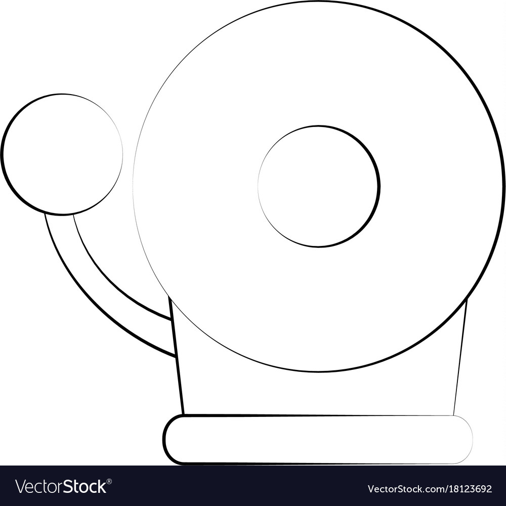 hight resolution of fire alarm bell vector image