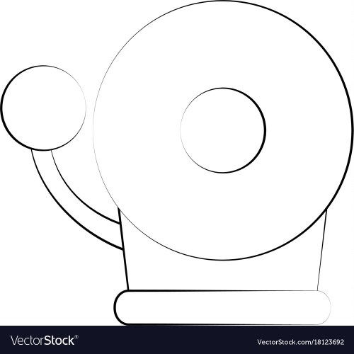 small resolution of fire alarm bell vector image